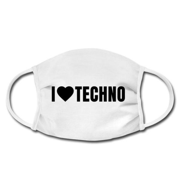 - Face Mask - I love Techno